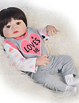 cheap -Reborn Baby Dolls Clothes Reborn Doll Accesories Cotton Fabric for 22-24 Inch Reborn Doll Not Include Reborn Doll Heart Soft Pure Handmade Girls' 4 pcs