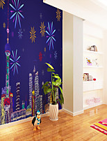 cheap -Art Deco   Landscape Home Decoration Modern Wall Covering Custom Self Adhesive Mural Wallpaper Fireworks Children Cartoon Style Suitable For Bedroom Children's Room