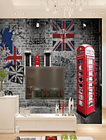 cheap -Custom Self-adhesive Mural British Style Picture Suitable for Background Wall Restaurant Bedroom Hotel Wall Decoration Art