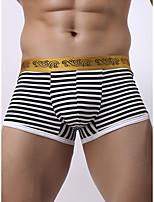 cheap -Men's Print Boxers Underwear - Normal Low Waist Black Blue Red M L XL