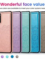cheap -Mandala Double Magnetic Buckled Bracket PU Leather Case For Samsung Galaxy S20 S20 Plus S20 Ultra S10 S10E S10 Plus S9 S9 Plus S8 S8 Plus A10 A20 A30 A40 A50 A70 A50S A70S A51 A71