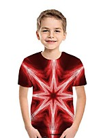 cheap -Kids Boys' Street chic 3D Short Sleeve Tee Red