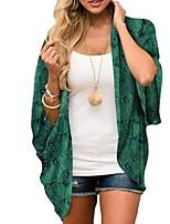 Недорогие -Жен. Блуза Пейзаж Верхушки V-образный вырез Повседневные Лето Зеленый Светло-зеленый S M L XL 2XL 3XL