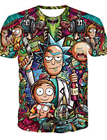 cheap -Inspired by Rick and Morty Cosplay Costume T-shirt Terylene Print Printing T-shirt For Men's / Women's