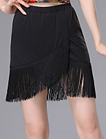 cheap -Latin Dance Skirts Tassel Gore Women's Training Daily Wear Natural Spandex