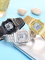 cheap -Men's Digital Watch Digital Stainless Steel 30 m Water Resistant / Waterproof Alarm Clock Day Date Digital Fashion Cool - Black Gold Silver One Year Battery Life