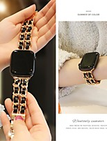 cheap -Small sweet wind chain strap for Apple Watch 5 4 40mm 44mm Watchbands Stainless Steel Chain With Leather Bracelet Strap band for iwatch Series 3 2 38mm 42mm