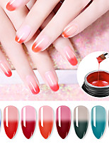 cheap -Nail Polish UV Gel  80 ml 1 pcs Nail Lengthening Glue Tricolor Thermosetting Adhesive Fast Lengthening Nail Oil Uv Gel 8ml