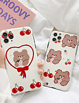 cheap -Cute Cartoon Panda Bear Shockproof Silicone Case For iPhone 11 Pro Max X XR XS Max 8 7Plus se 2020 Couple Clear Soft TPU Back Cover