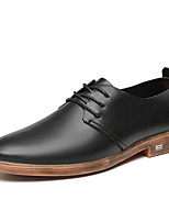 cheap -Men's Summer / Fall Classic / British Daily Outdoor Oxfords Walking Shoes Leather / Nappa Leather Breathable Wear Proof Black / Brown