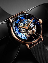 cheap -Men's Mechanical Watch Automatic self-winding Modern Style Stylish Stainless Steel Water Resistant / Waterproof Calendar / date / day Day Date Analog Fashion Cool - White+Silver Black / Blue