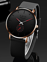 cheap -LIGE Men's Sport Watch Quartz Modern Style Sporty Silicone Water Resistant / Waterproof Analog Casual Outdoor - Red+Silver Red+Golden Golden+Silver