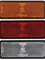 cheap -2pc 12V LED Rectangle Reflector Turn Signal Tail Brake Light For Motorcycle Truck Dirt Bike Universal