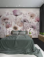 cheap -Custom Self-adhesive Mural Hand Painted Beautiful Purple Flower Suitable for Background Wall Restaurant Bedroom Hotel Wall Decoration Art Wall Cloth Room Wallcovering