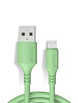 Недорогие -Micro USB Кабель 2.4 A 1.2m (4FT) Нормальная ABS + PC Адаптер USB-кабеля Назначение Huawei / Xiaomi