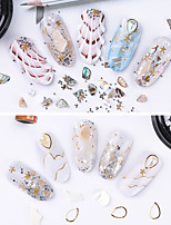 cheap -1 pcs Durable / Light and Convenient Rhinestone Nail Jewelry Rhinestones For Finger Nail Shell nail art Manicure Pedicure Daily / Festival Sweet / Cute