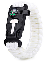 cheap -Survival Whistle Parachute Cord Outdoor Removable Multi Function Straw Waterproof Material ABS Camping / Hiking Hunting Outdoor Exercise Camping Mountaineering Forest Green Cream White Black Army