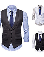 cheap -Gentleman Kingsman Vintage Masquerade Vest Waistcoat Men's Slim Fit Costume White / Black / Gray Vintage Cosplay Event / Party Sleeveless