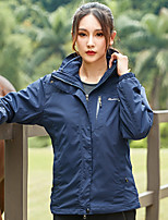cheap -Women's Hiking Jacket Winter Outdoor Waterproof Windproof Fleece Lining Breathable Top Full Length Visible Zipper Hunting Fishing Climbing Black / Red / Burgundy / Pink / Blue / Warm