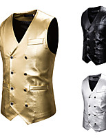 cheap -Plague Doctor Vintage Gothic Steampunk Masquerade Vest Waistcoat Men's Costume Golden / Black / Silver Vintage Cosplay Event / Party Sleeveless