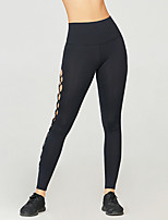 cheap -Women's Yoga Basic Legging - Solid Colored Mid Waist Black XS S M