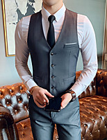 cheap -Tuxedos Standard Fit Single Breasted More-button Cotton Blend / Polyester Solid Colored