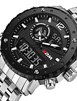 cheap -KADEMAN Men's Sport Watch Quartz Modern Style Stylish Stainless Steel Water Resistant / Waterproof Calendar / date / day Alarm Clock Analog - Digital Casual Cool - Black / Silver White+Silver Black