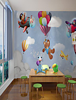 cheap -Custom Self Adhesive Mural Wallpaper Balloon Spaceship Children Cartoon Style Suitable For Bedroom Children's Room School  Art Deco   Wall Covering