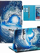 cheap -Case For Apple iPad Mini 3/2/1 / iPad Mini 4 / iPad Mini 5 Wallet / Card Holder / with Stand Full Body Cases Sea Wave and Sun PU Leather / TPU