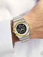 cheap -Men's Sport Watch Digital Modern Style Sporty Stainless Steel Water Resistant / Waterproof Calendar / date / day Digital Outdoor - Black / Silver Golden+Silver Black