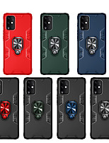 cheap -Case For Samsung Galaxy Galaxy S20/S20 Plus/S20 Ultra/S10/S10 Plus/Note 10/Note 10 Plus/A51/A71/A30/A20/A81/A70/A91/A01  Shockproof / Ring Holder Back Cover Solid Colored TPU / Plastic / Metal
