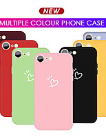 cheap -Colorful Love Heart Phone Case For iPhone SE 2020 11 11 Pro 11 Pro Max 8 7 Candy Color Soft TPU Back Cover