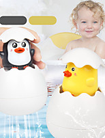 cheap -Baby Bathing Toy Kids Cute Duck Penguin Egg Water Spray Sprinkler Bathroom Sprinkling Shower Swimming Water Toys Kids Gift Color Random