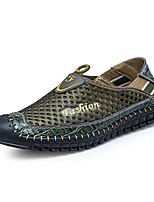 cheap -Men's Summer / Fall Casual / Beach Daily Beach Loafers & Slip-Ons Faux Leather / Mesh Non-slipping Wear Proof Light Brown / Army Green / Blue