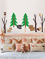 cheap -Cartoon Animals Wall Stickers Plane Wall Stickers Decorative Wall Stickers PVC Home Decoration Wall Decal Wall / Window Decoration 1pc