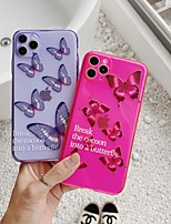 cheap -Case For APPLE  iPhone7 8 7plus 8plus  XR XS XSMAX  X SE  11  11Pro   11ProMax Translucent  Pattern Back Cover Word Phrase  Butterfly Animal TPU