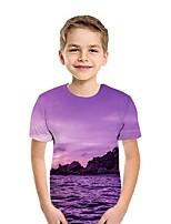 cheap -Kids Boys' Street chic 3D Short Sleeve Tee Purple
