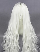cheap -Cosplay Wig Kozakura Shion Curly Cosplay Halloween Middle Part Wig Long White Synthetic Hair 39 inch Women's Anime Fashionable Design Cosplay White