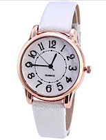 cheap -Women's Quartz Watches Quartz Stylish Fashion Casual Watch PU Leather Black / Brown Analog - White Blushing Pink White+Gray One Year Battery Life