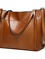 cheap -Women's PU Leather / Polyester Top Handle Bag Leather Bags Solid Color Wine / Black / Green / Fall & Winter