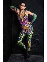 cheap -Zentai Suits Catsuit Skin Suit Adults' Cosplay Costumes Ultra Sexy Women's Novelty Printing Halloween Masquerade / Leotard / Onesie