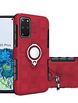 cheap -Case For Samsung Galaxy S20/S20 Plus/S20 Ultra/S10/S10 Lite/S10 5G/A90 5G Shockproof / Ring Holder Back Cover Solid Colored TPU / Plastic