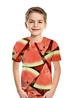 cheap -Kids Boys' Street chic Fruit Short Sleeve Tee Blue