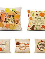 cheap -Set of 5 Miracille Thanksgiving Day Cushion cover Pumpkin Pillow Cover 45*45cm Halloween Throw Pillow Case Farmhouse Decor Cushions