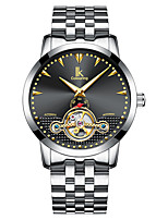 cheap -IK colouring Men's Mechanical Watch Automatic self-winding Formal Style Modern Style Stainless Steel Black / Silver Water Resistant / Waterproof Calendar / date / day Noctilucent Analog Luxury Classic