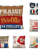 cheap -Set of 6 Home Cushion Cover Bastille Day pillow Sofa Covers 45cmx45cm Bed Printed Pillow Case