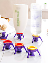 cheap -6pcs Deluxe Cap Kit Flip It Shampoo Lotion Syrup Condiments Bottle Cap