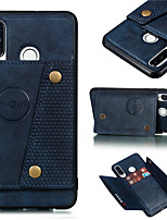 cheap -Case For Huawei Huawei P40/P40 Pro/P40 Pro/P30/P30 Lite/P30 Pro/P20/P20 Lite/Mate 30/Mate 30 Pro/Mate 20 Card Holder / Shockproof Back Cover Solid Colored PU Leather / TPU