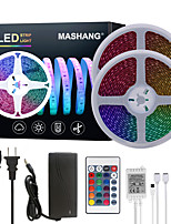 cheap -MASHANG Bright RGB LED Strip Lights 32.8ft 10M Waterproof RGB Tiktok Lights 1200LEDs SMD 5050 with 24 Keys IR Remote Controller and 100-240V Adapter for Home Bedroom Kitchen TV Back Lights DIY Deco