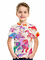 cheap -Kids Boys' Basic Fantastic Beasts Animal Print Short Sleeve Tee Blushing Pink